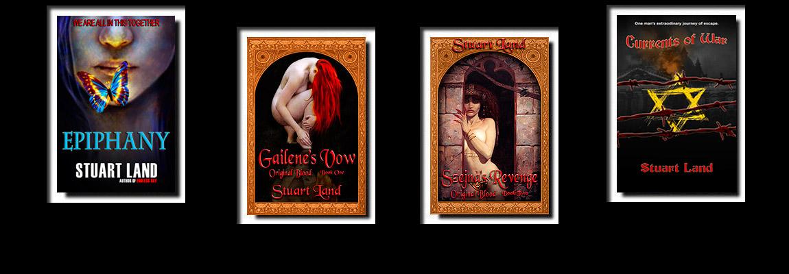 four books by Stuart Land